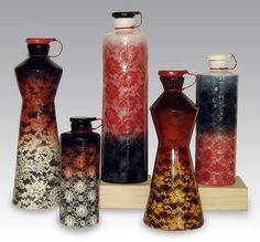 Lace-Ombre bottle vases by anczelowitz, via Flickr
