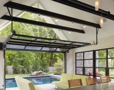 #pool; outdoor living. #poolhouse #windows