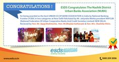 """@esdsdc  - Fully Managed Datacenter congratulates #NUBA for being awarded as the best URBAN CO-OP BANK ASSOCIATION in India by National Banking Frontier (#FCBA) in two categories at New Delhi felicitated by Mr. Jyotindra Mehta president #NAFCUB (National Federation Of Urban Cooperative Banks And Credit Societies Limited) NEW DELHI. Received by Hon. Mr. Ajay Bramhecha, Hon. Mr. Bhaskar Kothawade & Hon. Mrs. Shashi Ahire """"."""
