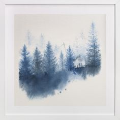 House in the Woods by Ekaterina Romanova at minted.com