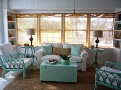 flea market trixie: Beach Cottage Sitting Room - Before and After