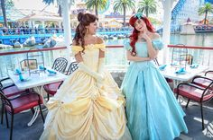 Belle and Ariel | by EverythingDisney