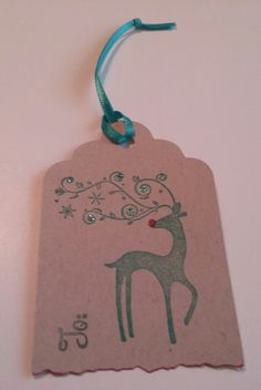 Dasher Gift tag,  Christmas Tag, Gift Tag, To and From Tags, free shipping to USA : by PamBlohm on Etsy