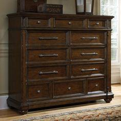 pulaski durango ridge 12 drawer gentlemans chest from