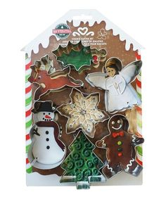 10 Pieces Silver R/&M Gingerbread House Decorating Set