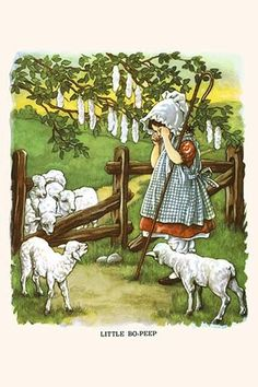Little Bo Peep. High quality vintage art reproduction by Buyenlarge. One of many rare and wonderful images brought forward in time. I hope they bring you pleasure each and every time you look at them.