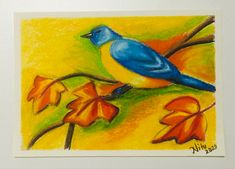Oil Pastel Drawings Easy, Oil Pastel Art, Oil Pastels, Easy Drawings, Indian Art Paintings, Nature Drawing, Fall Season, Colored Pencils, Art Inspo