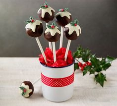 These lollipops are a fantastic festive treat for kids and make an impressive centrepiece too