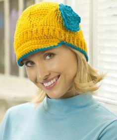 Crochet Brim Hat Free Crochet Pattern KTV2001C