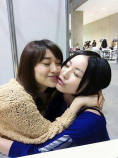 Yuko and Jurina (´ε` ) #akb48