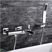 Chrome Wall Mounted Bathroom Faucet Bath Tub Mixer Tap With Hand Shower Head Shower Faucet hot and cold waterfall brass torneira Bathroom Shower Faucets, Tub Faucet, Faucet Handles, Bathroom Fixtures, Bath Tub, Bathroom Chrome, Brass Faucet, Bathrooms, Cheap Bathtubs