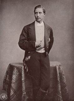 [Young] Kaiser Wilhelm II - Frederick William Victor Albert of Prussia (1859-1941) was the last German Emperor (Kaiser)  King of Prussia, ruling from 1888 to 1918. He was the eldest grandson of the British Queen Victoria  related to many monarchs  princes of Europe...his first cousins King George V of the UK, founder of the House of Windsor, Marie of Romania, Queen consort of Romania  the Czarina Alix of Hesse, consort of his 2nd cousin Tsar Nicholas II of the House of Romanov