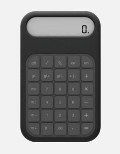 Check this out on leManoosh.com: #Black #calculator #Ergonomics #Geometry #Green #Grey #Keyboard #Minimalist #Rubber / Silicon