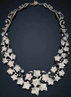 "~Diamond ""Ivy"" necklace by Tiffany & Co., circa 1895~"