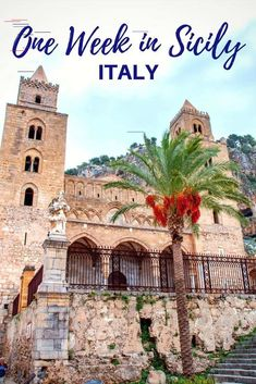 Summering in Sicily--Where to Go on a One-Week Road Trip There are so many gorgeous things to do and see in Sicily, Italy. Visit ancient sites, try amazing food, and lose yourself in the splendor of Sicily. Sicily Travel, Italy Travel Tips, Travel Destinations, Travel Guide, Cool Places To Visit, Places To Go, Bucket List Europe, Things To Do In Italy, Sicily Italy
