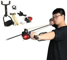 Strong Powerful Archery Slingshot Hunting Bow Arrow Shooting Fish Catapult US
