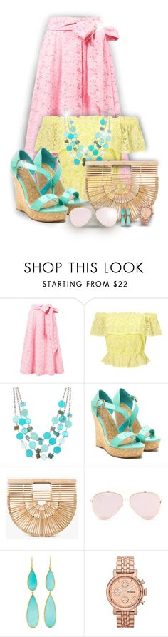 """""""Candy colors!"""" by asia-12 ❤ liked on Polyvore featuring Lisa Marie Fernandez, Miss Selfridge, Mixit, Cult Gaia, Ippolita and FOSSIL"""
