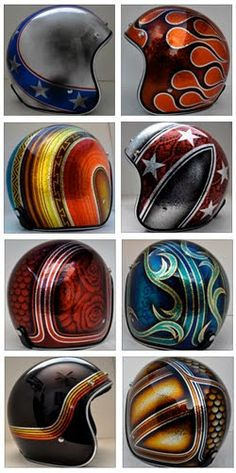 Best motorcycle helmets old school faces ideas Custom Motorcycle Helmets, Custom Helmets, Motorcycle Art, Motorcycle Posters, Harley Davidson, Airbrush, Vintage Helmet, Moto Cafe, Helmet Paint