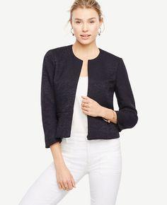 ANN TAYLOR Textured Open Jacket. #anntaylor #cloth #jacket