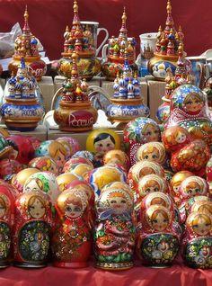 Russian souvenir stand