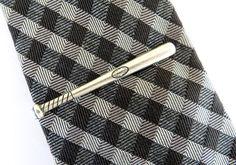 Baseball Bat Tie Clip Baseball Bat Tie Bar Sterling by BellaMantra, $22.00