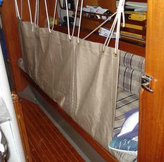 Making Lee Cloths - excellent tutorial!!! Sea Berths - Good secure seaberths must be available for all off-watch crewmembers. These should be parallel to the sailboat's centreline and be fitted with lee-cloths. Generally, the interior layout must be properly optimized for both safety and practicality when underway, and comfort and efficiency when at anchor