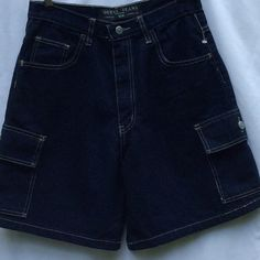 36441496b5ac GUESS BLUE JEAN CARGO SHORTS15 in 15 Item GUESS DARK-WASH BLUE JEAN CARGO  SHORTS