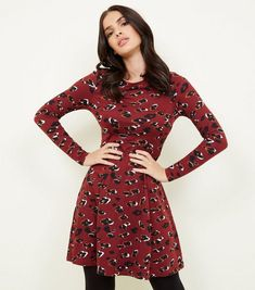 cfd027ce Plum star print twist detail skater dress | Dress shopping | Dresses ...