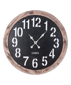 Take a look at this Black & Brown Winston Wall Clock today!