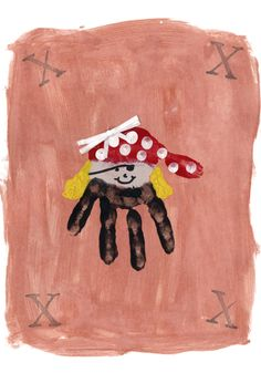 A cute little pirate. Perfect for Preschoolers to create!