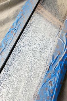 Mercury glass look using vinegar, water, and Looking Glass Spray Paint