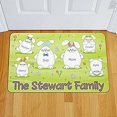 Bunny Family Doormat by Personal Creations.com l #Easterfun