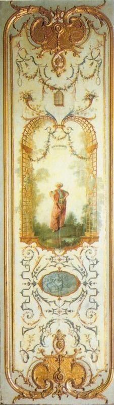 Le Turc amoureux--Désignation - dénomination :  Panneau de boiserie Désignation - ensemble :  Cabinet.Paris 1724