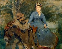 The donkey ride Eva Gonzalès was a French impressionist painter. The influence of Manet in his painting is visible until after which his style becomes more personal, specializing in pastel works and light tones. Famous Impressionist Paintings, French Impressionist Painters, Edgar Degas, Mary Cassatt, Women Artist, Bristol Museum, Bristol City, Maurice Utrillo, Museum Art Gallery