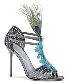Sergio Rossi - reception shoe?? the color's a little off, but i love that peacock detail!