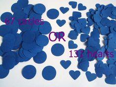 cerchi o cuori scegli coriandoli rotondi blu denim nozze matrimonio battesimo decorazione tavola scrapbooking diy ghirlanda lasoffittadiste