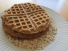 Pinch of This, That & the Other: Peanut Butter Oatmeal Blender Waffles