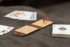 This cool as all get out, travel cribbage board, by Walnut Studiolo has turned out to be one of this years hottest cribbage products. A great gift for any cribbage enthusiast.