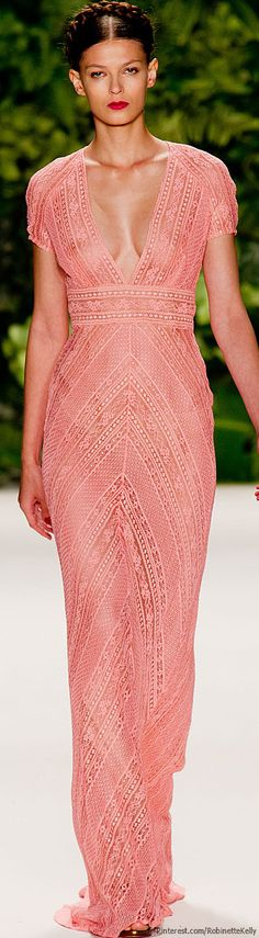 Naeem Khan | S/S 2014 | NYFW  Pretty dress. Needs lined though!