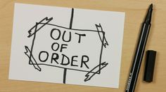 How to Draw a Out of Order Elevator Schild or Sign - Easy Cartoon Doodle for Kids [108] - https://youtu.be/JFUPdIaECcg - Subscribe: https://www.youtube.com/channel/UCzp_6nj33P39unKIBTNvXkQ?sub_confirmation=1