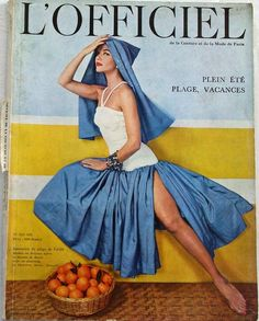L'Officiel - June 1957  French Fashion Magazine:L'Officiel,June 1957. Cover:Model is wearing a creation by Grès