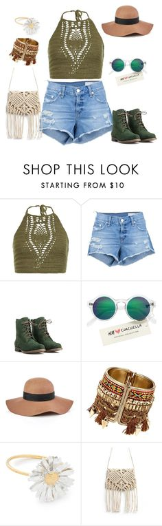 """""""Styling jeans short for bohemian style personality"""" by monicazelin on Polyvore featuring New Look, rag & bone/JEAN, JJ Footwear, H&M, Reiss and Alex Monroe"""