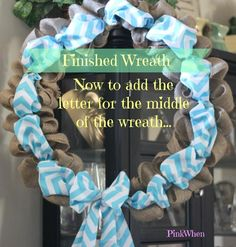 burlap and chevron wreath