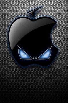 Apple logo alien iPhone 5(s)/4(s)/3G Wallpapers