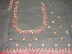 Simple Thread Work Done On Blouse By Kanniya Aari Works Aari Work