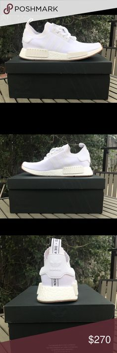 """Adidas NMD PK Adidas NMD Prime-knit """"white gum"""" size 9.5 deadstock $270 Adidas Shoes Sneakers"""