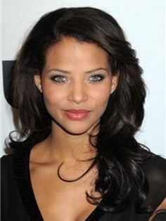 Graceful Custom Long Loose Wavy Black Hair Lace Front Wigs Human Hair 16 Inches for Black Women Most Beautiful Eyes, Beautiful Black Women, Beautiful People, Stunningly Beautiful, Denise Vasi, Meagan Good, 100 Human Hair, Pretty Face, Lace Front Wigs