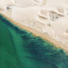Where sand dunes meet coral seas. Shark Bay, Western Australia
