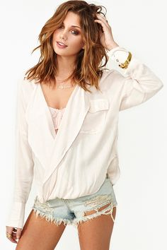 Twisted Up Blouse in Cream