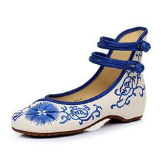 9053dcf5ec Amazon.com | Woman's Flats Embroidered Cloth Shoes Chinese National Wind  Hand Production | Flats